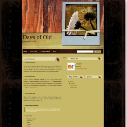 Days of Old Blogger Template