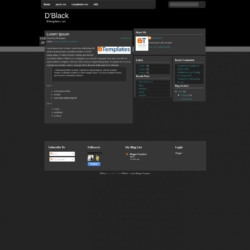 D'Black Blogger Template