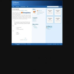 D'Bluez Blogger Template