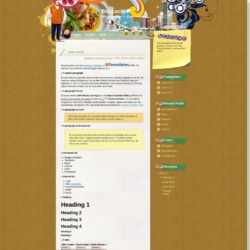 Delicacies Blogger Template