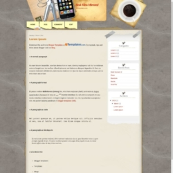 Desk Mess Mirrored Blogger Template