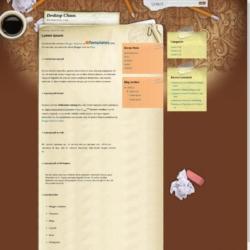 Desktop Chaos Blogger Template