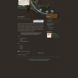 Diary Online Blogger Template
