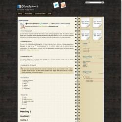 dNotebook Blogger Template