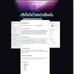 Dock Dock Blogger Template