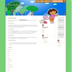 Dora the Explorer Blogger Template