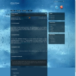 dWaterDrops Blogger Template