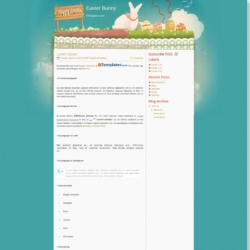 Easter Bunny Blogger Template