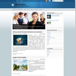 eBusiness Blogger Template