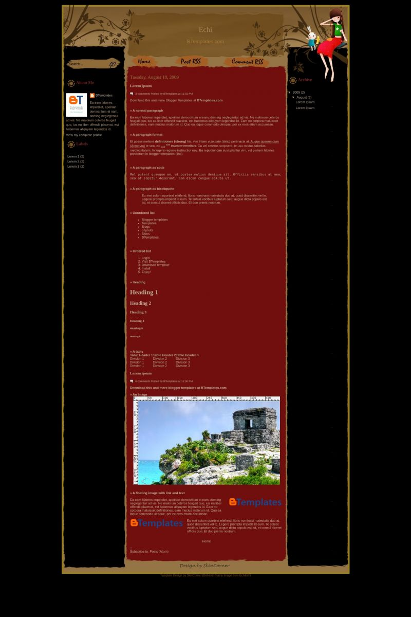 Download Echi Blogger Template