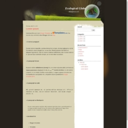 Ecological Globe Blogger Template