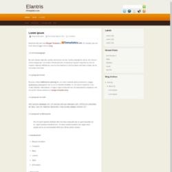 Elantris Blogger Template
