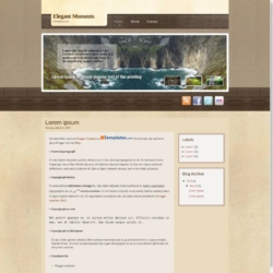 Elegant Moments Blogger Template