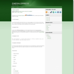 Emeraldpress Blogger Template