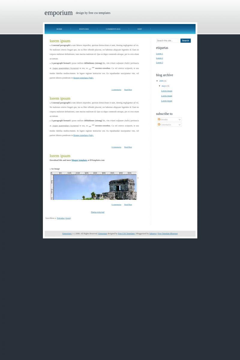 Download Emporium Blogger Template