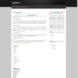 Equilibrium Blogger Template