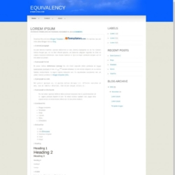 Equivalency Blogger Template