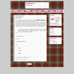 Escoces 01 Blogger Template