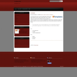 Evolution Red Blogger Template