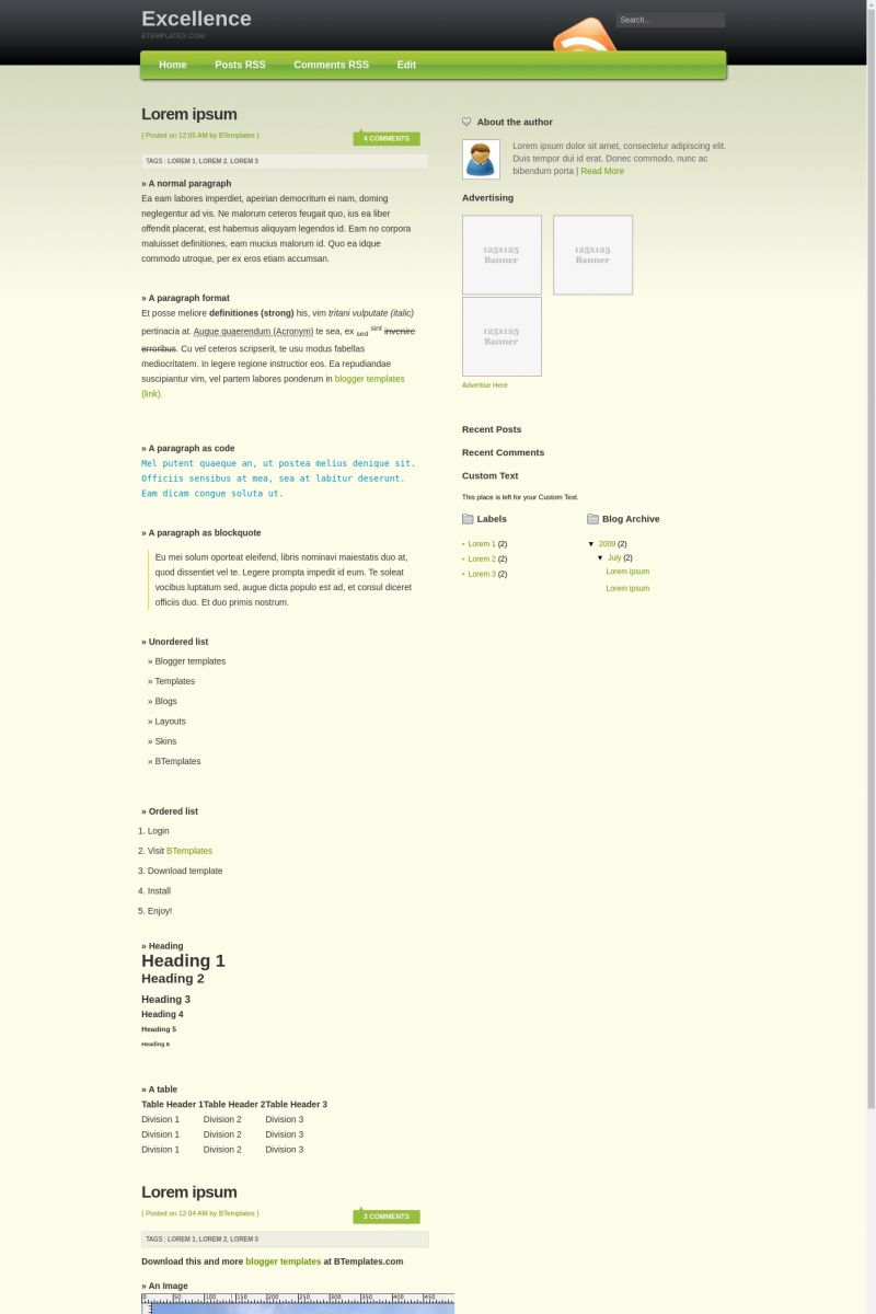 Download Excellence Blogger Template