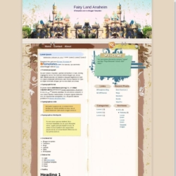 Fairy Land Anaheim Blogger Template