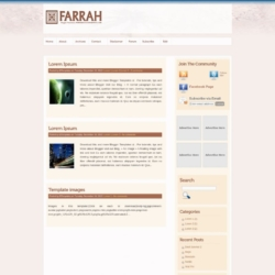 Farrah Blogger Template