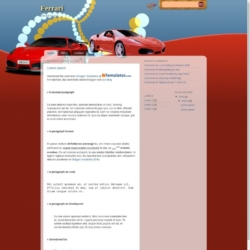 Ferrari Blogger Template