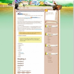 Fields of Gold Blogger Template