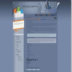 Finance Theme Blogger Template