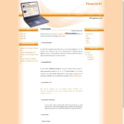 Financial 01 Blogger Template