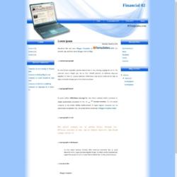 Financial 02 Blogger Template