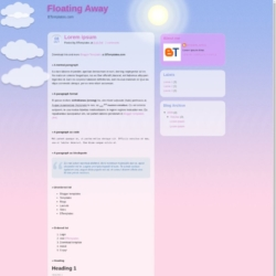 Floating Away Blogger Template
