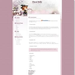 Floral Belle Blogger Template