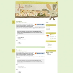 Floral Day Blogger Template