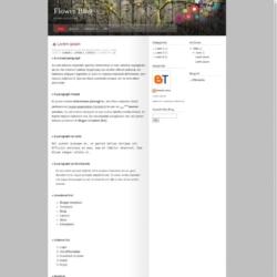 Flower Blog Blogger Template