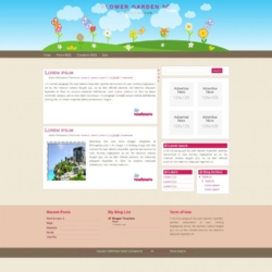 Flower Garden 3c Blogger Template