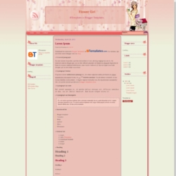 Flower Girl Blogger Template