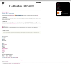 Fluid Solution Blogger Template