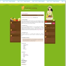 Food and Cooking Blogger Template