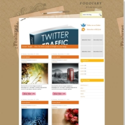Foodiary Blogger Template