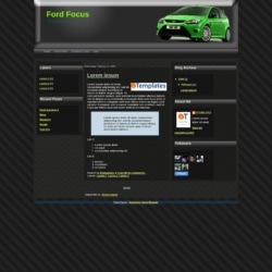 Ford Focus Blogger Template