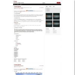 Forte Blogger Template