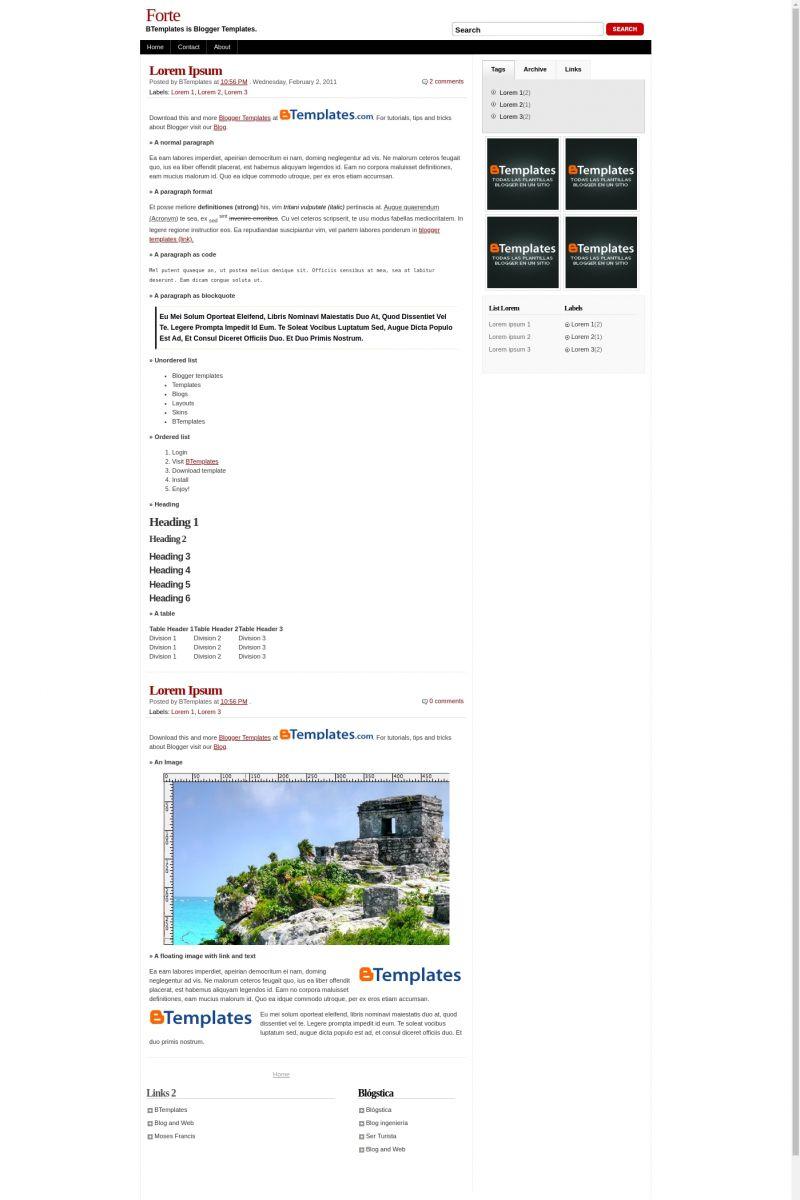 Download Forte Blogger Template