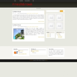 Fresh Brown Blogger Template