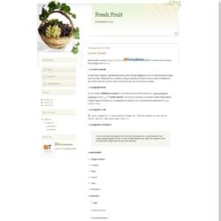 Fresh Fruit Blogger Template