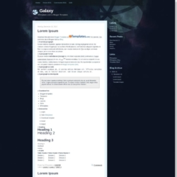 Galaxy Blogger Template