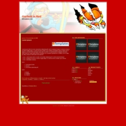 Garfield in Red Blogger Template