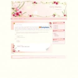 Girly Diaries Blogger Template
