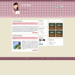 Girly Magz Blogger Template
