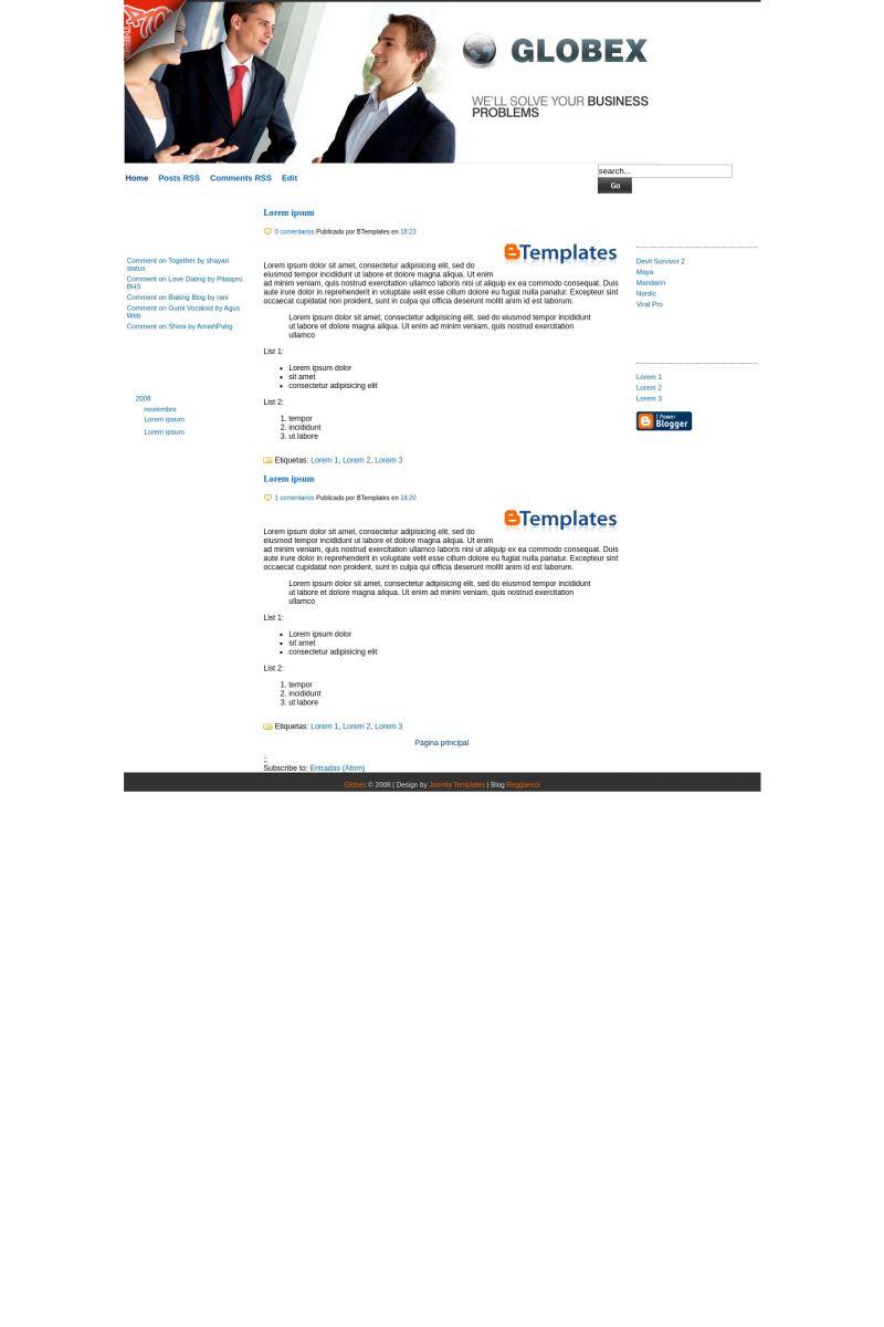 Download Globex Blogger Template
